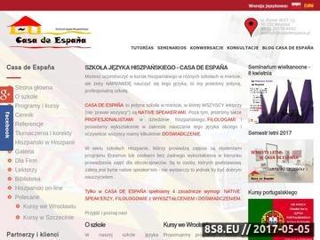 Zrzut strony Casadeespana.pl - Hiszpański we Wrocławiu
