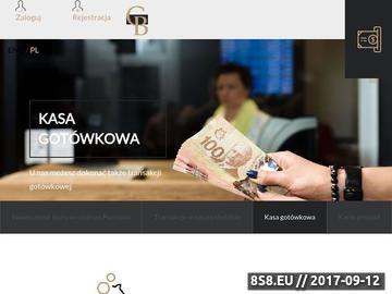 Zrzut strony Kantor internetowy, wymiana walut online