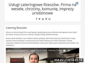 Zrzut strony Catering Service Rzeszów
