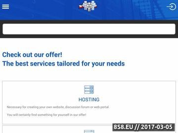 Zrzut strony Tani hosting WWW
