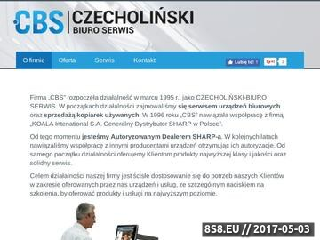 Zrzut strony CBS sprzedaż kopiarek