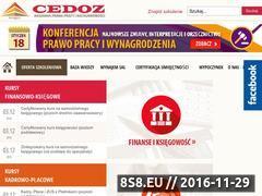 Miniaturka domeny www.cedoz.pl