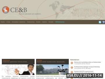 Zrzut strony Centrum Edukacji i Biznesu - Kinga Nowacka
