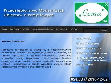 Zrzut strony CEMA roboty modernizacyjne