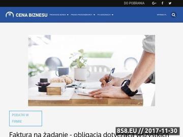 Zrzut strony Cena Biznesu - strona dla ludzi przedsię™biorczych