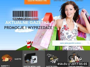 Zrzut strony Elektroniczna forma gazetek promocyjnych, aktualne gazetki promo