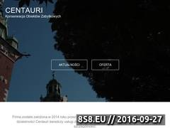 Miniaturka domeny www.centauri-konserwacja.pl