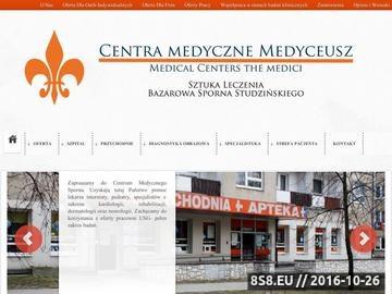 Zrzut strony Centra medyczne medyceusz.pl