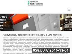 Miniaturka Centrum Doskonalenia Zarządzania Meritum (www.centrum-doskonalenia.pl)