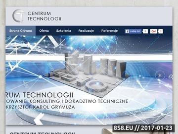 Zrzut strony Centrum Technologii projekty techniczne