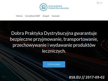 Zrzut strony CENTRUM DPD - transport produktów leczniczych