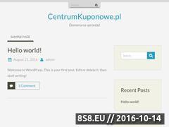 Miniaturka domeny centrumkuponowe.pl