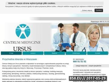 Zrzut strony URSUS - prywatna klinika