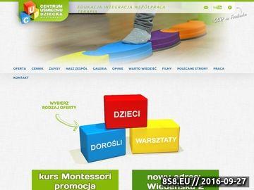 Zrzut strony Centrum Uśmiechu Dziecka Montessori Poznań