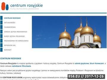 Zrzut strony Nauka języka Rosyjskiego Wrocław