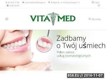 Zrzut strony VitaMed - neurolog NFZ Białystok