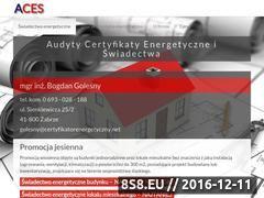 Miniaturka domeny www.certyfikatorenergetyczny.net