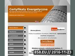 Miniaturka domeny www.certyfikaty-energetyczne-budynkow.pl