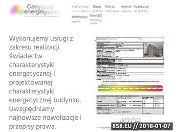 Zrzut strony Świadectwa energetyczne Kraków