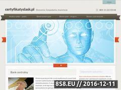 Miniaturka domeny www.certyfikatyslask.pl
