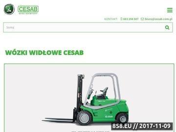 Zrzut strony Wózki widłowe Cesab