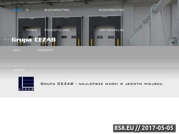 Zrzut strony Centrum zabezpieczenia mienia CEZAB S.C. - bramy