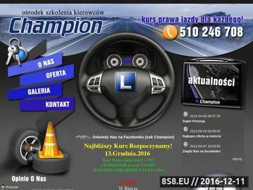 Zrzut strony OSK Champion