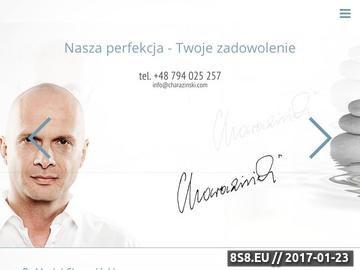 Zrzut strony Chirurg plastyczny Dr Maciej Charaziński