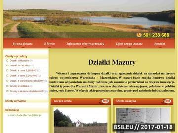 Zrzut strony Działki Mazury