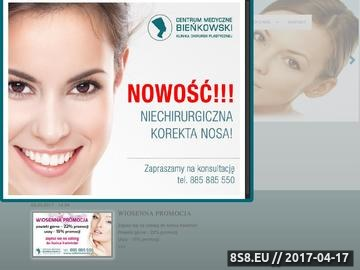 Zrzut strony CM Bieńkowski - chirurgia plastyczna