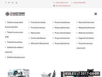 Zrzut strony CHM Polska - Frezarka Tokarka do metalu
