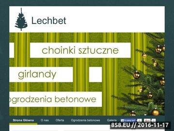 Zrzut strony Produkcja choinek - Lechbet
