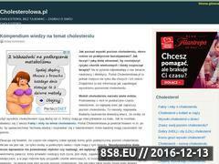 Miniaturka domeny www.cholesterolowa.pl