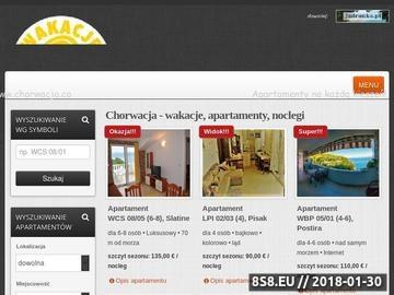 Zrzut strony Apartamenty na każdą kieszeń - Wakacje Chorwacja.co
