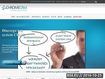 Zrzut strony System CRM