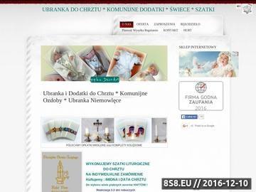 Zrzut strony Oferujemy pięknie ubranka, dodatki do chrztu, komunii i ślubu