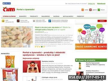 Zrzut strony Ciam - jeść, produkty spożywcze, skład, dieta oraz kalorie i BMI