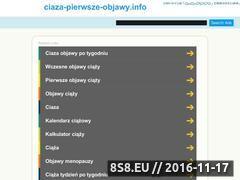 Miniaturka domeny www.ciaza-pierwsze-objawy.info