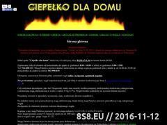 Miniaturka domeny ciepelkodladomu.pl