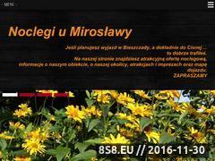 Miniaturka domeny www.cisna-noclegiumiroslawy.cdx.pl