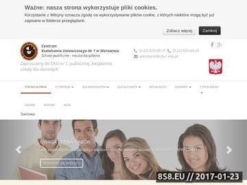 Zrzut strony Licea dla dorosłych Warszawa