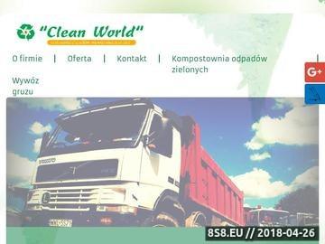 Zrzut strony Clean Worl M. Woch - wywóz gruzu Warszawa