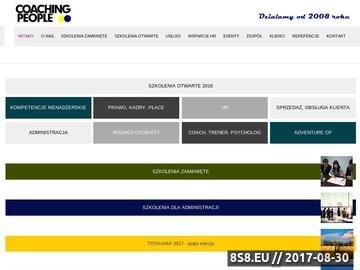 Zrzut strony Coaching biznesowy - Coachingpeople.pl