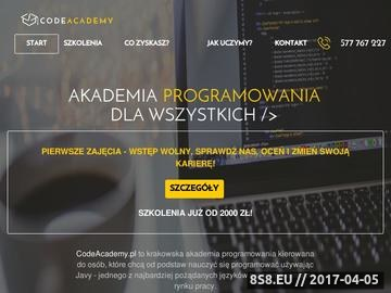 Zrzut strony Szkolenia informatyczne