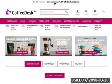 Zrzut strony Coffeedesk.pl - Twój sklep z kawą