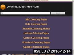 Thumbnail of Coloring Pages Sheets Website