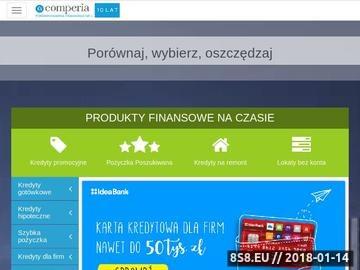 Zrzut strony Porównywarka kredytów - Comperia.pl