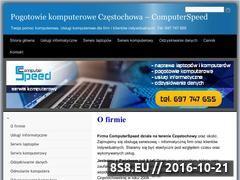 Miniaturka domeny www.computerspeed.czest.pl