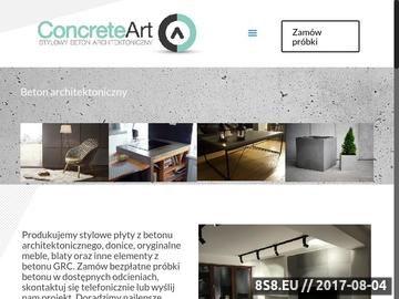 Zrzut strony Concrete Art - Stylowy Beton Architektoniczny
