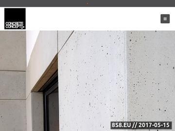 Zrzut strony Płyty betonowe, dekoracyjny beton oraz kafle betonowe